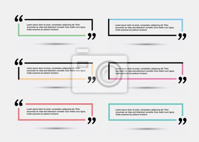 Цитировать пустой шаблон. Шаблон вектор EPS 10 набор. Пустой цитатой пузырь. Цитата формы. Цитата цитирования пустой шаблон. Пустой шаблон с информацией для печати дизайн кавычки. Цвет цитаты пузырь.