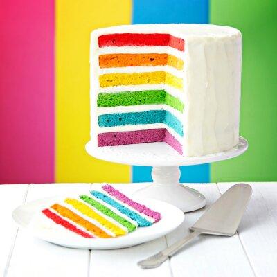 Картина Rainbow layer cake