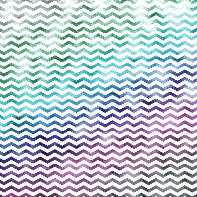 Картина Радуга Белый Металлик Поддельный фольга Chevron шаблон Шевроны Textur