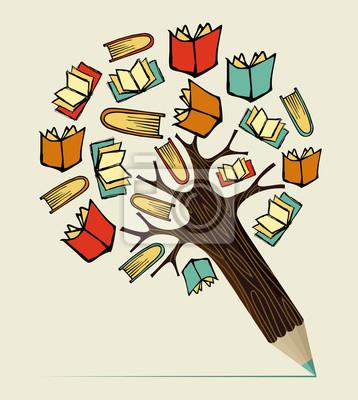 Чтение Концепция образования карандаш дерево