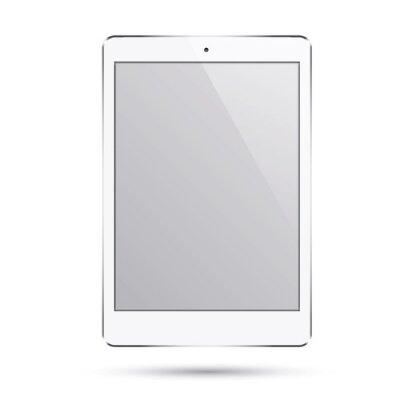 Реалистичная современный смарт-планшет Ipad иллюстрации с серебряного цвета изоляции.