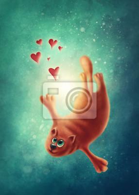 Рыжий кот в любви