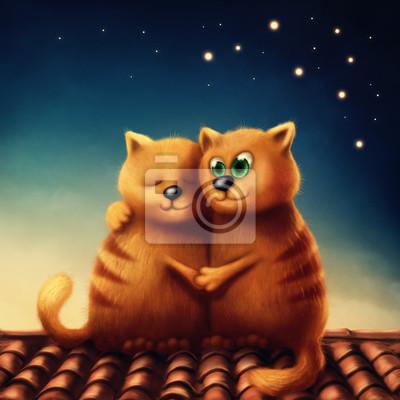 Красные кошки в любви