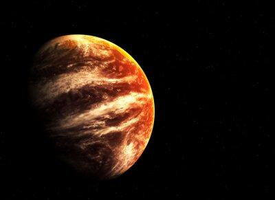 Картина Красная планета и звезды