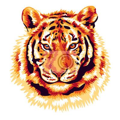 Картина Красный тигр