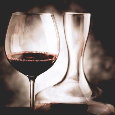 Картина красное вино дегустации - стиль винтаж фото