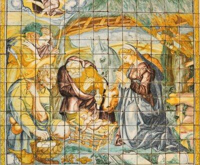 Картина Религиозная керамическая плитка, Рождество, Лиссабон, Португалия