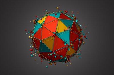 Картина Предоставление сфере с Каркас и частиц.