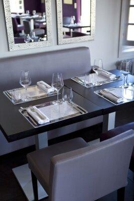 Картина Ресторан, зал, бистро, столы, Couverts, Gastronomie
