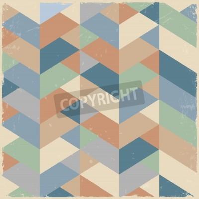 Картина Retro geometric background in pastel colors