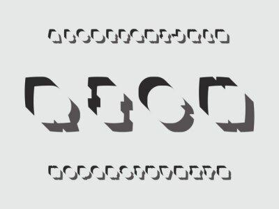 Rich font. Vector alphabet
