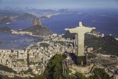Картина Рио-де-Жанейро, Бразилия: Вид Христа и Ботафого залива