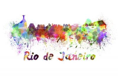 Картина Рио-де-Жанейро горизонт акварелью