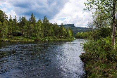 Картина Река в Норвегии