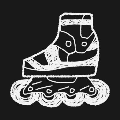 Картина Роликовых коньков каракули