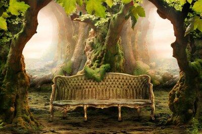 Картина романтический место в глухом лесу