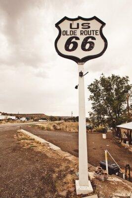 Картина Шоссе 66 знак