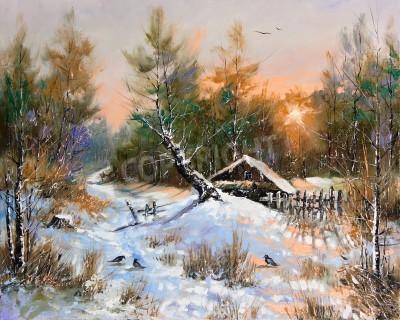 Картина Rural winter landscape