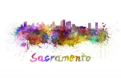 Картина Сакраменто горизонт акварелью
