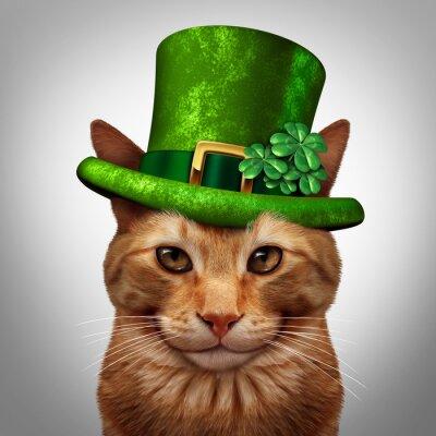 Картина День Святого Патрика Cat