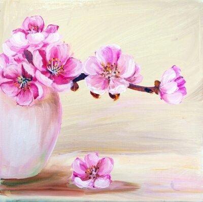 Картина Цветы сакуры в вазе