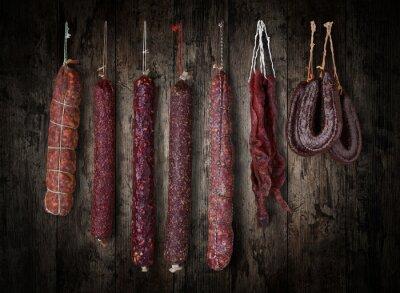 Картина салями колбасы