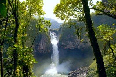 Картина Сан - Рафаэль водопад. Самый большой водопад в Эквадоре