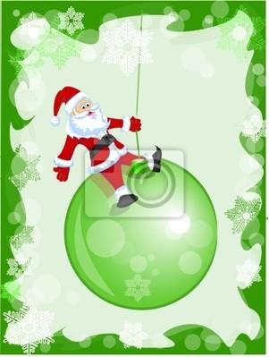 санта клаус на рождественском шаре