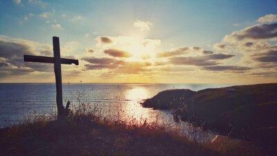 Картина Живописные восход солнца над береговой линией, Болгария