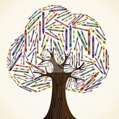 Концепция образование Школа искусство дерево
