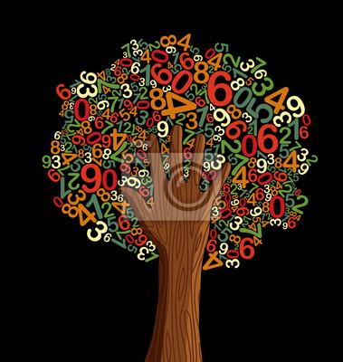 Школьное образование концепция дерево рука