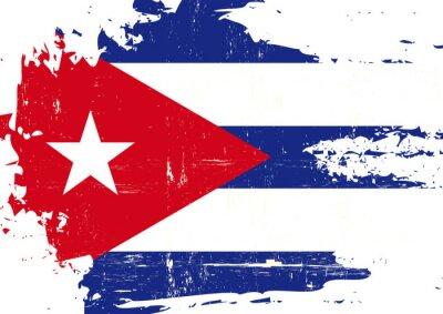 Картина Царапины кубинский флаг
