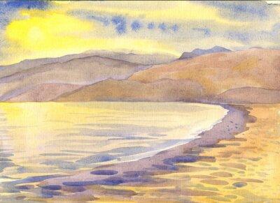 Картина Пейзаж. Акварельная живопись
