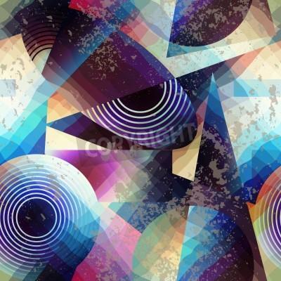 Картина Бесшовные фон. Аннотация геометрический рисунок в стиле кубизма.
