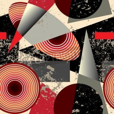 Картина Бесшовные фон pattern.Abstract шаблон в стиле кубизм