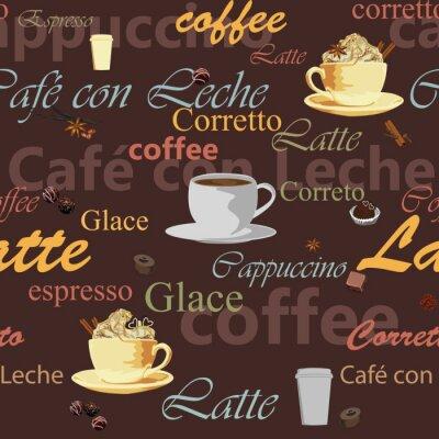 бесшовные тема кофе
