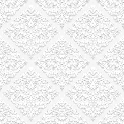 Картина Бесшовные цветочный узор в традиционном стиле