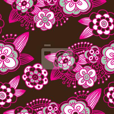 Бесшовные цветочный узор фона в векторе