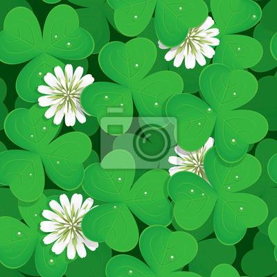 День Бесшовные зеленый трилистник Святого Патрика