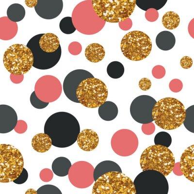 Картина Бесшовные с золотыми точками блеск.