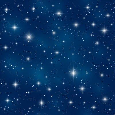 Картина Бесшовные с блестящими звездами