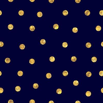 Картина Бесшовные горошек золотой узор.