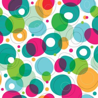 Бесшовные круглые пузыри шаблон детей в вектор
