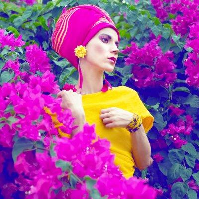 Картина чувственный восточные девушки в цветах