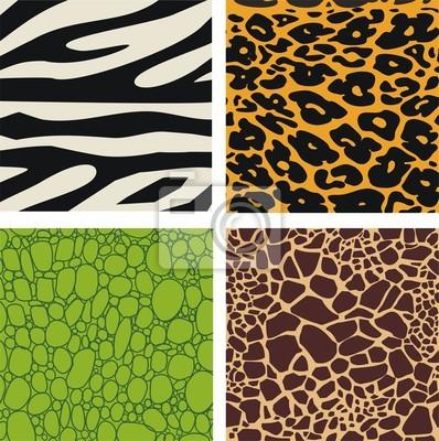 Набор из 4 моделей кожи животных