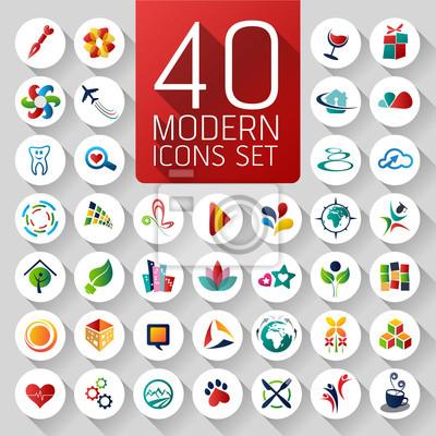 Набор абстрактных веб-иконки и глобус векторных логотипов