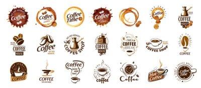 Картина Set of coffee logos. Vector illustration on white background
