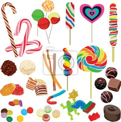 набор различных конфет