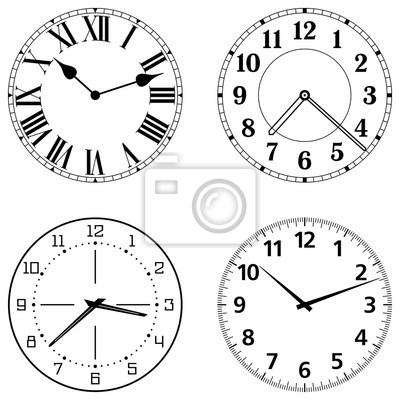 Набор различных граней часы