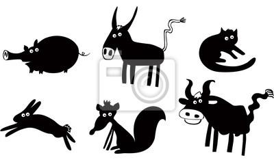 Набор смешных животных